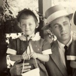 Dad, 36, and me, 3, in 1954