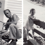 My father, 1945, and me, 1953