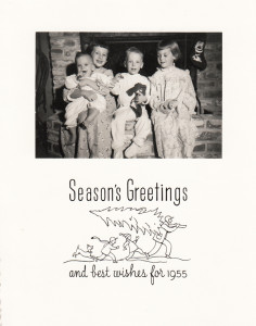 Our Christmas card, 1954