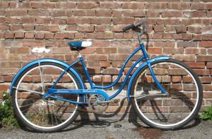 A blue Schwinn bike like mine
